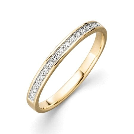 Juwelier Kraemer Ring Diamant 375/ - Gold – zus. ca. 0,05 ct – 54 mm