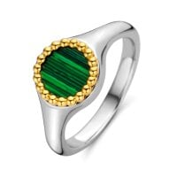 Tii Sento Milano Ring Malachite lights - 12207MA