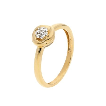 Juwelier Kraemer Ring Diamant 333/ - Gold – zus. ca. 0,07 ct – 54 mm