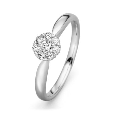 Juwelier Kraemer Ring Diamant 585/ - Gold – zus. ca. 0,20 ct – 54 mm