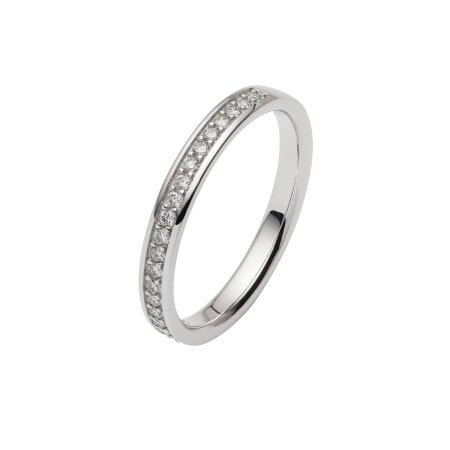 Juwelier Kraemer Trauring Diamant 585/ - Gold – zus. ca. 0,20 ct – 58 mm