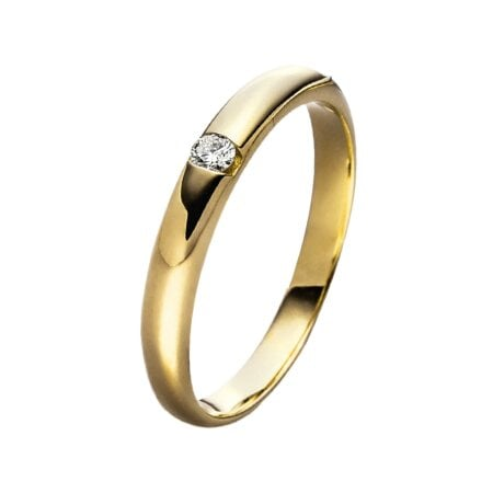 Juwelier Kraemer Ring Diamant 333/ - Gold – ca. 0,05 ct – 56 mm