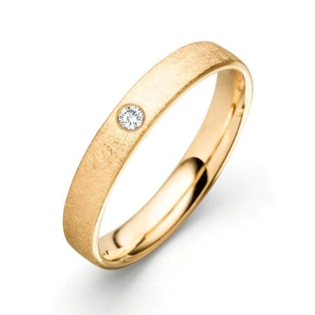 Juwelier Kraemer Trauring Diamant 585/ - Gold – ca. 0,04 ct – 58 mm