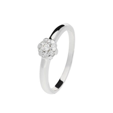 Juwelier Kraemer Ring Diamant 585/ - Gold – zus. ca. 0,10 ct – 54 mm