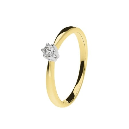 Juwelier Kraemer Ring Diamant 333/ - Gold – ca. 0,08 ct – 56 mm