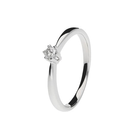 Juwelier Kraemer Ring Diamant 333/ - Gold – ca. 0,08 ct – 52 mm