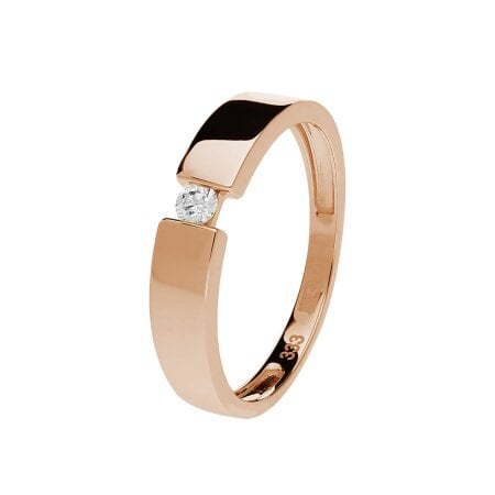 Juwelier Kraemer Ring Diamant 333/ - Gold – ca. 0,07 ct – 52 mm