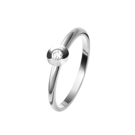 Juwelier Kraemer Ring Diamant 375/ - Gold – ca. 0,08 ct – 52 mm
