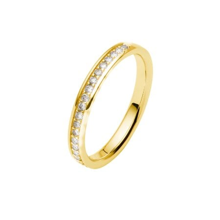Juwelier Kraemer Trauring Diamant 585/ - Gold – zus. ca. 0,20 ct – 50 mm