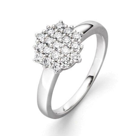 Juwelier Kraemer Ring Diamant 585/ - Gold – zus. ca. 0,50 ct – 52 mm
