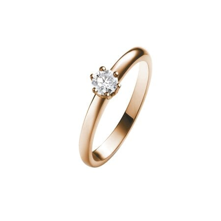Juwelier Kraemer Ring Diamant 585/ - Gold – ca. 0,17 ct – 54 mm