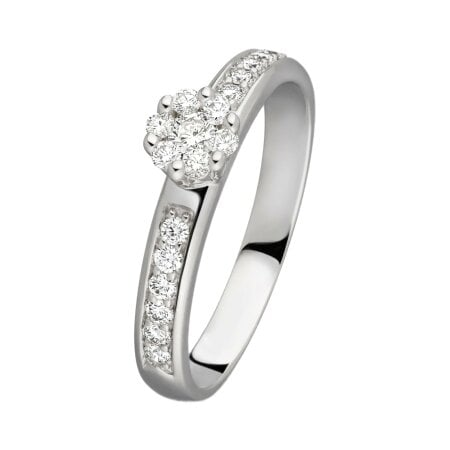 Juwelier Kraemer Ring Diamant 585/ - Gold – zus. ca. 0,30 ct – 60 mm