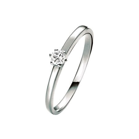 Juwelier Kraemer Ring Diamant 585/ - Gold – ca. 0,08 ct – 54 mm